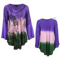 Butterfly Garden Long Sleeve Tunic