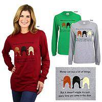 Dog Wiggle Long Sleeve T-Shirt