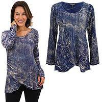 Indigo Sky Long Sleeve Tunic