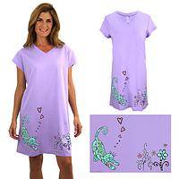 Smell the Flowers Cat Nightshirt