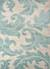 Transitional floral ivory/aqua wool blend area rug, 'Parisian Scroll' - Transitional Floral Ivory/Aqua Wool Blend Area Rug thumbail