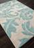 Transitional floral ivory/aqua wool blend area rug, 'Parisian Scroll' - Transitional Floral Ivory/Aqua Wool Blend Area Rug (image 2c) thumbail