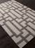 Modern geometric ivory/gray wool blend area rug, 'Urbanite' - Modern Geometric Ivory/Gray Wool Blend Area Rug (image 2c) thumbail