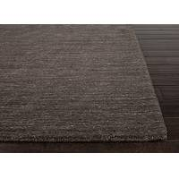 Hand loomed brown/ivory solid wool area rug, 'Chocolatist' - Handloomed Solid Wool Brown/Ivory Area Rug