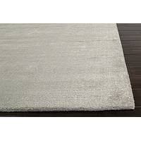 Hand loomed pale grey striped wool blend area rug, 'Cement City' - Hand Loomed Striped Pale Grey Wool Blend Area Rug