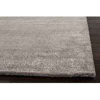 Hand loomed slate striped wool blend area rug, 'Slater' - Hand Loomed Striped Slate Wool Blend Area Rug