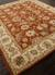 Hand-tufted Oriental pattern red/taupe wool area rug, 'Olympia' - Hand-Tufted Oriental Pattern Wool Red/Taupe Area Rug (image 2c) thumbail