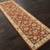 Hand-tufted Oriental pattern red/taupe wool area rug, 'Olympia' - Hand-Tufted Oriental Pattern Wool Red/Taupe Area Rug (image 2g) thumbail