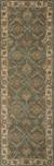 Hand-tufted oriental pattern green/ivory wool area rug, 'Bombay Gold' - Hand-Tufted Oriental Pattern Wool Green/Ivory Area Rug (image 2f) thumbail