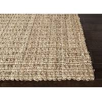 Natural taupe/tan textured jute area rug, 'Harvest Gold' - Natural Textured Jute Taupe/Tan Area Rug