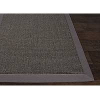 Natural solid gray/taupe sisal area rug, 'Foundation Gray' - Naturals Solid Pattern Sisal Gray/Taupe Area Rug