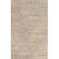 Hand-knotted Moroccan pattern wool area rug, 'Ethereal' - Hand-Knotted Moroccan Pattern Wool Beige Ivory Area Rug
