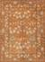 Hand-tufted wool area rug, 'Cinnamon Garden' - Hand-Tufted 100% Wool Area Rug in Shades of Orange thumbail