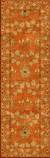 Hand-tufted wool area rug, 'Cinnamon Garden' - Hand-Tufted 100% Wool Area Rug in Shades of Orange (image 2f) thumbail