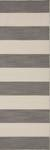 Flat-weave stripe pattern wool area rug, 'Bold Grey' - Flat-Weave Stripe Pattern Wool Gray and Ivory Area Rug (image 2f) thumbail