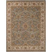 Classic oriental grey/ivory wool area rug, 'Voltaire' - Classic Oriental Grey/Ivory wool Area Rug