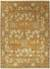Classic arts and crafts orange/green wool area rug, 'Alder' - Classic Arts And Crafts Orange/Green Wool Area Rug thumbail