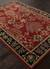 Classic arts and crafts red/black wool area rug, 'Rosewood Spires' - Classic Arts And Crafts Red/Black Wool Area Rug (image 2c) thumbail
