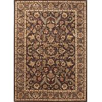 Classic oriental brown/taupe wool area rug, 'Palatine' - Classic Oriental Brown/Taupe Wool Area Rug
