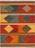 Flat-weave tribal red/multi wool area rug, 'Arizona' - Flat-Weave Tribal Red/Multi Wool Area Rug thumbail
