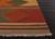 Flat-weave tribal red/multi wool area rug, 'Arizona' - Flat-Weave Tribal Red/Multi Wool Area Rug (image 2b) thumbail
