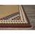 Flat-weave tribal tan/red wool area rug, 'Waive' - Flat-Weave Tribal Tan/Red Wool Area Rug (image 2b) thumbail