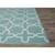 Flat-weave moroccan blue/ivory reversible cotton area rug, 'Clear Day' - Flat-Weave Moroccan Blue/Ivory Reversible Cotton Area Rug (image 2b) thumbail