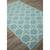 Flat-weave moroccan blue/ivory reversible cotton area rug, 'Clear Day' - Flat-Weave Moroccan Blue/Ivory Reversible Cotton Area Rug (image 2c) thumbail