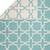Flat-weave moroccan blue/ivory reversible cotton area rug, 'Clear Day' - Flat-Weave Moroccan Blue/Ivory Reversible Cotton Area Rug (image 2e) thumbail