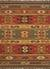 Flat-weave tribal red/yellow jute area rug, 'Mayem' - Flat-Weave Tribal Red/Yellow Jute Area Rug thumbail