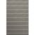 Flat-weave stripe gray/ivory wool area rug, 'Rowan' - Flat-Weave Stripe Gray/Ivory Wool Area Rug thumbail