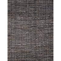 Flat-weave texture black/gray cotton area rug, 'Francis' - Flat-Weave Texture Black/Gray Cotton Area Rug