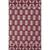 Flat-weave tribal pink/ivory cotton area rug, 'Cardinal Mirage' - Flat-Weave Tribal Pink/Ivory Cotton Area Rug thumbail