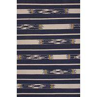 Flat-weave tribal blue/ivory wool area rug, 'Midnight Timber' - Flat-Weave Tribal Blue/Ivory Wool Area Rug
