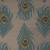 Flat-weave animal print blue wool area rug, 'Blue Feather' - Flat-Weave Animal Print Blue Wool Area Rug (image 2e) thumbail