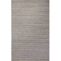 Flat-weave Moroccan style blue/taupe wool blend area rug, 'Poole' - Flat-Weave Blue/Taupe Wool Blend Area Rug