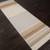 Flat-weave stripe blue/brown wool area rug, 'Muddy Water' - Flat-Weave Stripe Blue/Brown Wool Area Rug (image 2g) thumbail