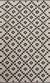 Flat-weave geometric ivory/black wool area rug, 'Cubic' - Flat-Weave Geometric Ivory/Black Wool Area Rug thumbail