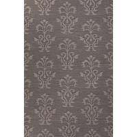 Flat-weave tribal gray wool area rug, 'Damask' - Flat-Weave Tribal Gray Wool Area Rug
