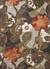 Modern floral brown/orange wool blend area rug, 'Garden in Fall' - Modern Floral Brown/Orange Wool Blend Area Rug thumbail