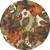 Modern floral brown/orange wool blend area rug, 'Garden in Fall' - Modern Floral Brown/Orange Wool Blend Area Rug (image 2h) thumbail