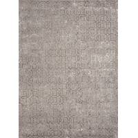 Modern geometric gray/taupe wool blend area rug, 'Chaucer' - Modern Geometric Gray/Taupe Wool Blend Area Rug