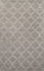 Modern geometric gray/ivory wool blend area rug, 'Smoke Trellis' - Modern Geometric Gray/Ivory Wool Blend Area Rug thumbail