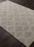 Modern geometric gray/ivory wool blend area rug, 'Smoke Trellis' - Modern Geometric Gray/Ivory Wool Blend Area Rug (image 2c) thumbail