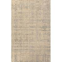 Modern tone-on-tone taupe/gray wool blend area rug, 'Biscotti Crosshatch' - Modern Tone-on-tone Taupe/Gray Wool Blend Area Rug
