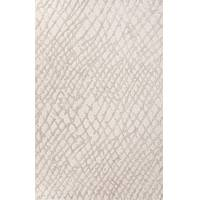 Modern tone-on-tone ivory/beige wool blend area rug, 'Network' - Modern Tone-on-tone Ivory/Beige Wool Blend Area Rug