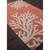 Modern coastal orange/ivory wool area rug, 'Coral Reef' - Modern Coastal Orange/Ivory Wool Area Rug (image 2c) thumbail