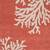 Modern coastal orange/ivory wool area rug, 'Coral Reef' - Modern Coastal Orange/Ivory Wool Area Rug (image 2e) thumbail