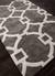 Modern geometric gray/ivory wool blend area rug, 'Regal' - Modern Geometric Gray/Ivory Wool Blend Area Rug (image 2c) thumbail