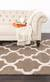 Modern geometric brown/ivory wool area rug, 'Vogue in Walnut' - Modern Geometric Brown/Ivory Wool Area Rug (image 2d) thumbail